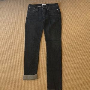 "Helmut Lang Skinny ""Dark and Dry"" Jeans"
